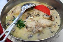 Monkfish in garlic sauce, Casa Vasca, Newark, New Jersey