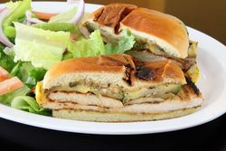 Grilled chicken sandwich, Packsun Halal Chicken, Parkchester, Bronx