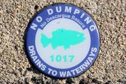 No dumping, drains to waterways, Atlantic City, New Jersey