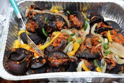 Snails, Nigerian Independence Day Festival, Dag Hammarskjold Plaza, East 47th St, Manhattan