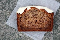 Roasted banana cake with cream cheese, Erie Coffeeshop & Bakery, Rutherford, New Jersey