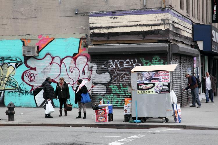 Batata asada cart, Sherman Street, Manhattan