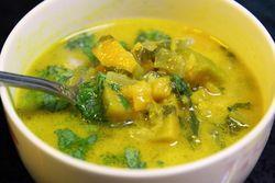 Kagkur soup, featuring squash, Weekender Billiard Restaurant & Bar, Woodside, Queens