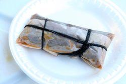 Pastel de carne (wrapped), Kingsbridge, Bronx