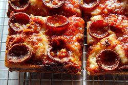 Roni Supreme pizza, Emmy Squared, Williamsburg, Brooklyn