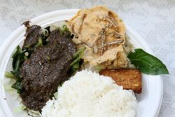 Pecel ndeso, Indonesian bazaar, First Presbyterian Church of Forest Hills, Queens