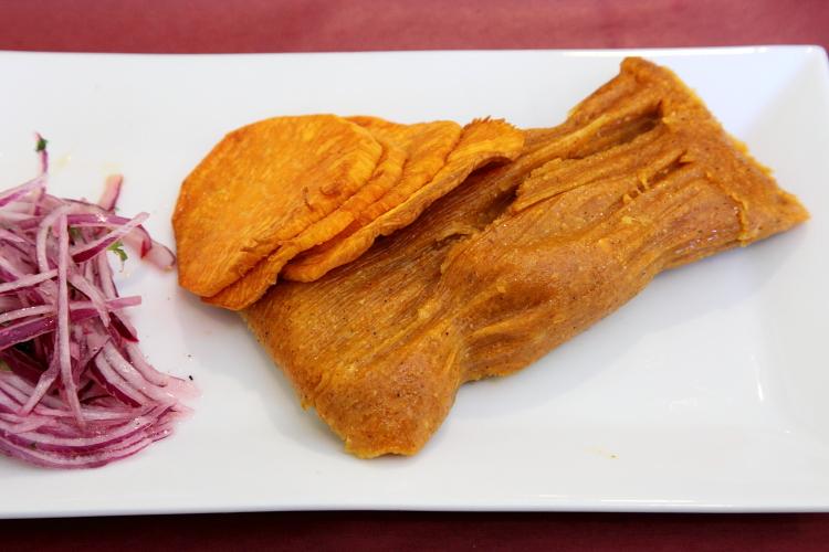 Tamal de choncho, Maca Peruvian Cuisine, Rego Park, Queens