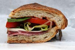 The namesake sandwich (half), Olive's, Prince St, Manhattan