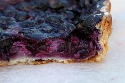 Blueberry wahe (biteaway view), Zoss the Swiss Baker, North Union Farmers Market, Cleveland