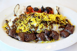 Adas polo and chenjeh, Noon O Kabab, Chicago