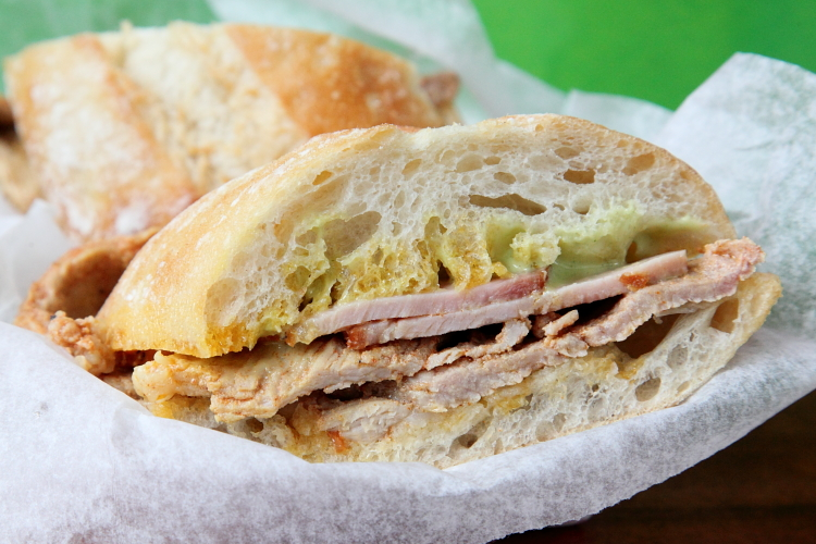 Bifana a Zeca, pork cutlet and smoked pork loin sandwich, No Pao, Rotary Club of Jersey City Food Truck Festival, Jersey City