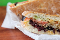 Morcela no pao, Portuguese blood sausage sandwich, No Pao, Rotary Club of Jersey City Food Truck Festival, Jersey City