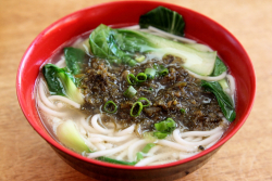 Rice noodles with preserved mustard greens, Shaxian Delicacies, Sunset Park, Brooklyn