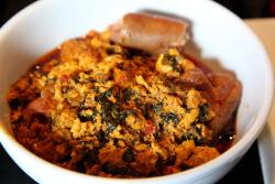Kontomire stew, Mama G African Kitchen, Williamsbridge, Bronx
