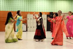 Dancers, Adhikaar's Dashain celebration, Woodside, Queens