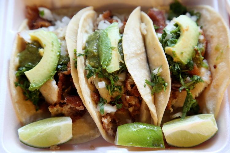 Fish tacos, New York Bakery, West 29th St, Manhattan