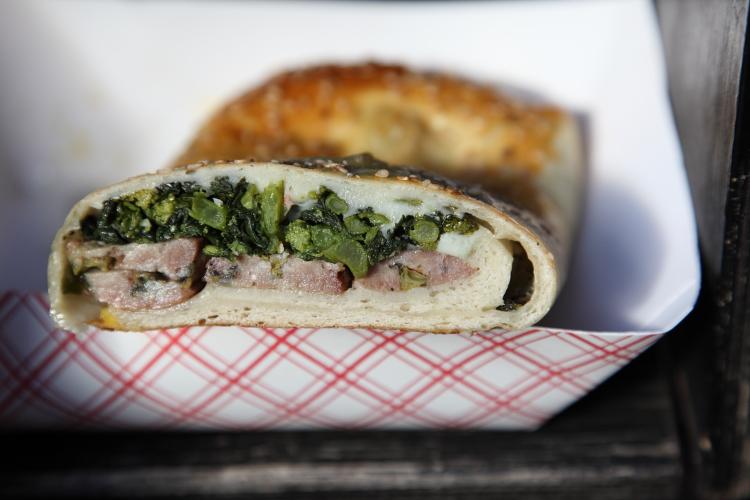 Broccoli rabe bread, Faicco's, Bleecker St, Manhattan