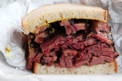 Pastrami on rye, Frankel's Delicatessen & Appetizing, Greenpoint, Brooklyn
