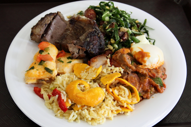 Buffet sampler  Minas Grill  Astoria  Queens