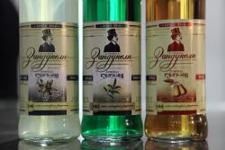 Zandukeli soft drinks in cream  tarragon  and pear flavors  Marani  Rego Park  Queens
