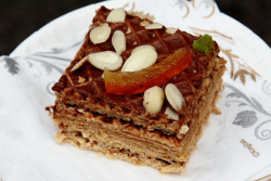 Hazelnut waffle cake  Saint George Ukrainian Festival  East 7th St  Manhattan