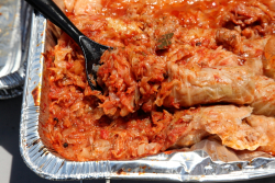 Sarmale (stuffed cabbage rolls)  Romanian picnic at St Andrew's Orthodox Church  Jamaica  Queens