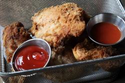Chicken-and-biscuits basket  Blvd Bistro  Lenox Ave  Manhattan