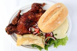 Fried cuy platter  La Casa de Rosita  Carnaval Ayacuchano  Paterson  New Jersey