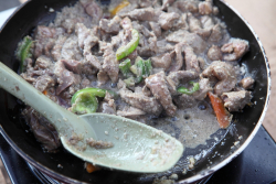 Sauteed beef liver (aka Egyptian foie gras)  A Taste of Egypt Festival  Dyker Heights  Brooklyn