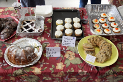 Baked-goods table  St Luke's Church rummage sale  Forest Hills  Queens