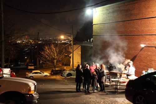 Parking-lot grill  Saints Vartanantz Armenian Apostolic Church Bazaar  Ridgefield  New Jersey