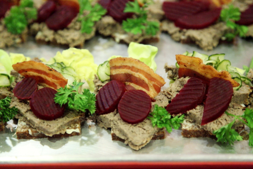 Pork liver pate smorrebrod  Danish Seamen's Church Christmas Fair  Plymouth Church  Brooklyn Heights  Brooklyn