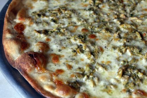 White clam pie at Lee's Tavern  Dongan Hills  Staten Island