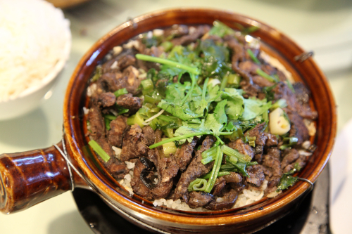 Casserole (bo zai fan) with eel  Lai Wang Ka Mei  Flushing  Queens