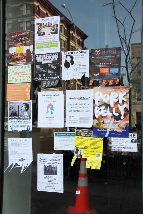 Flyer for Junzi after hours  Junzi Kitchen  Broadway  Manhattan