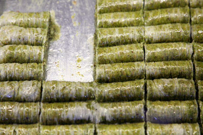 Fistik sarma (pistachio rolls)  Safir Bakery  Sheepshead Bay  Brooklyn