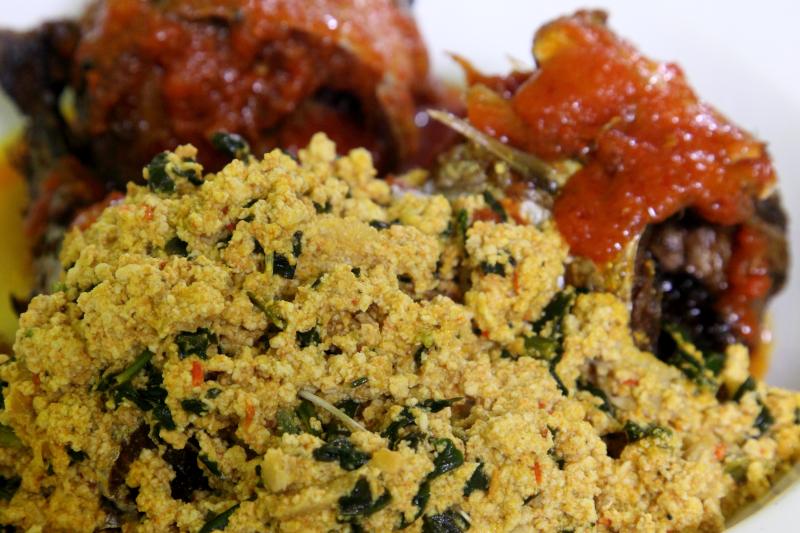 Egusi sauce with mackerel  The Green Place  Bedford-Stuyvesant  Brooklyn