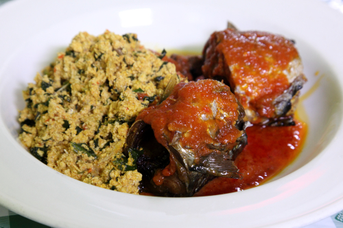 Egusi sauce with mackerel  The Green Place  Bedford-Stuyvesant  Brooklyn