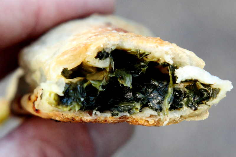 Spinach roll (biteaway view)  Pizza Wagon  Bay Ridge  Brooklyn