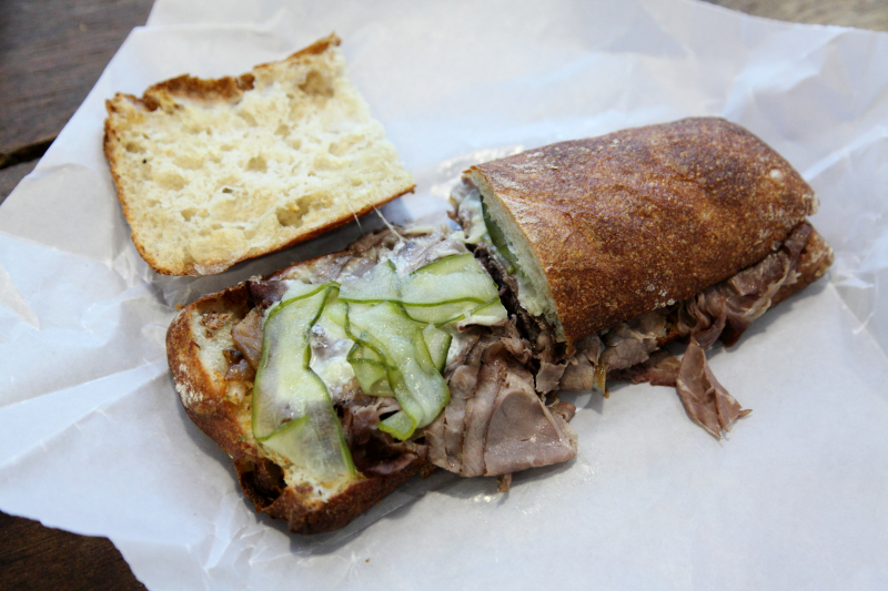 Beefneck sandwich  Ends Meat  Industry City  Sunset Park  Brooklyn