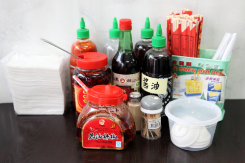 Condiments  Fuding Wok  Sunset Park  Brooklyn