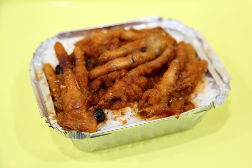 Chicken feet over rice  Kam Hing Coffee Shop  Bayard St  Manhattan