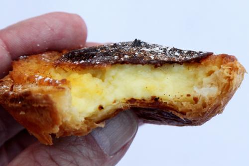 Pastel de nata  Portuguese egg tart (biteaway view)  Joey Bats Cafe  The World's Fare  Citi Field  Corona  Queens