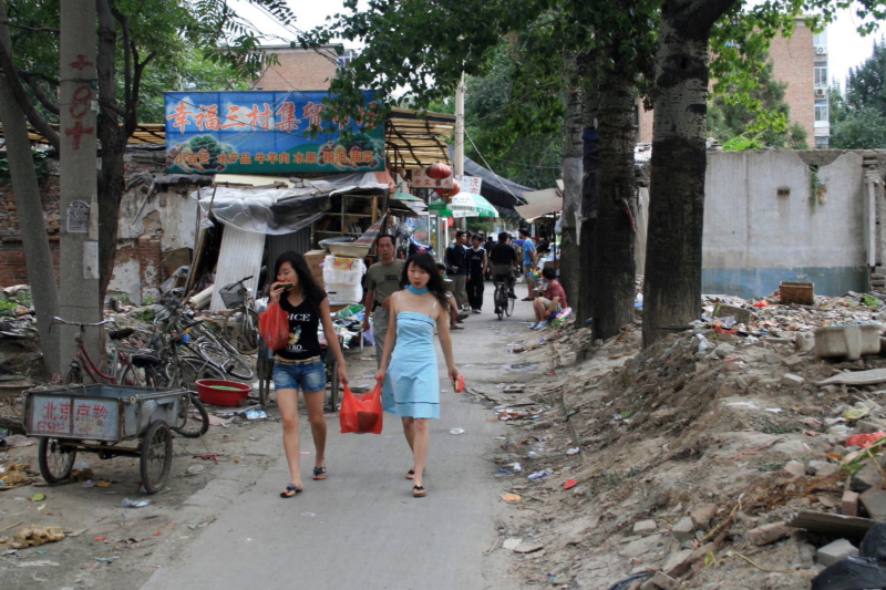 Carrying the groceries home  Beijing