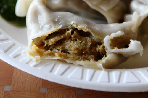 Banana dumpling (biteaway view)  Hamro Bhim's Cafe  Jackson Heights  Queens