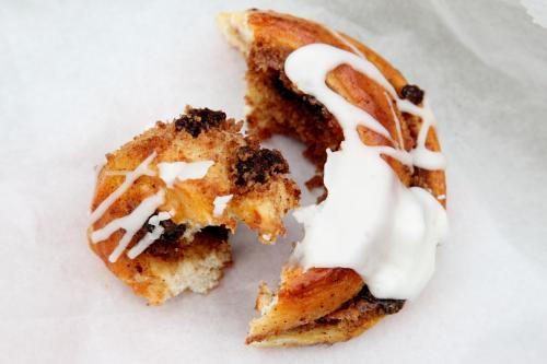 Cinnamon raisin danish (pulled apart)  Sal & Dom's Pastry Shop  Laconia  Bronx