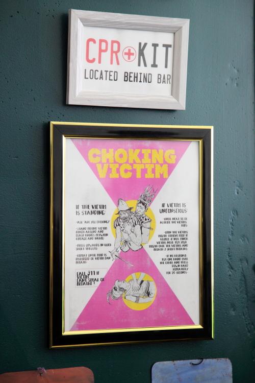 Montezuma's Rescue  nontraditional choking-victim poster  La Loncheria  Bushwick  Brooklyn