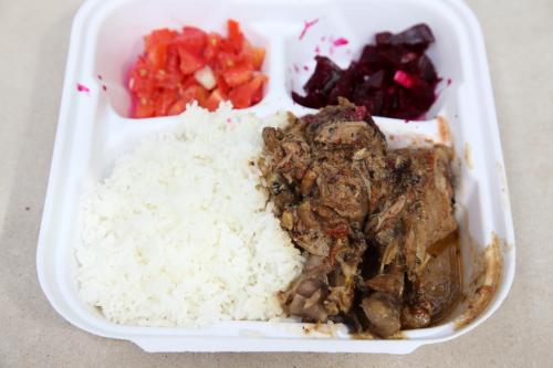 Akoho au coco  chicken in coconut sauce  Ralibera truck (aka Madagascar in NYC)  Morningside Heights  Manhattan