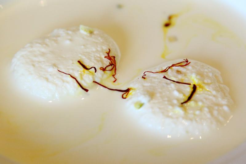 Zafran (saffron) ras malai  Jalsa Grill & Gravy  Kensington  Brooklyn