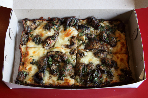 Mushroom pizza  Lions & Tigers & Squares  West 23rd St  Manhattan